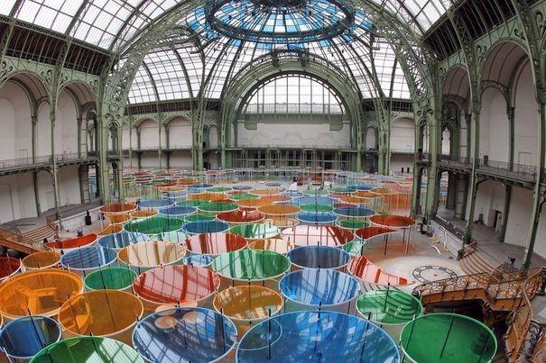 Exposition monumenta daniel buren excentrique s nef du grand palais rick et pick - Expo le grand palais ...
