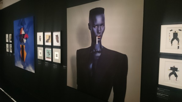 Jean Paul Goude - 1981 - Blue Black in Black on grey