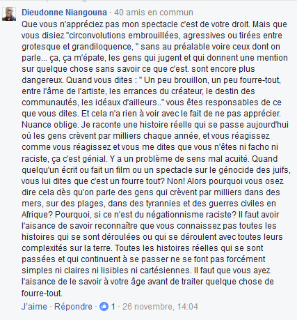 dieudionné_niangouna_statut_facebook_réponse_1